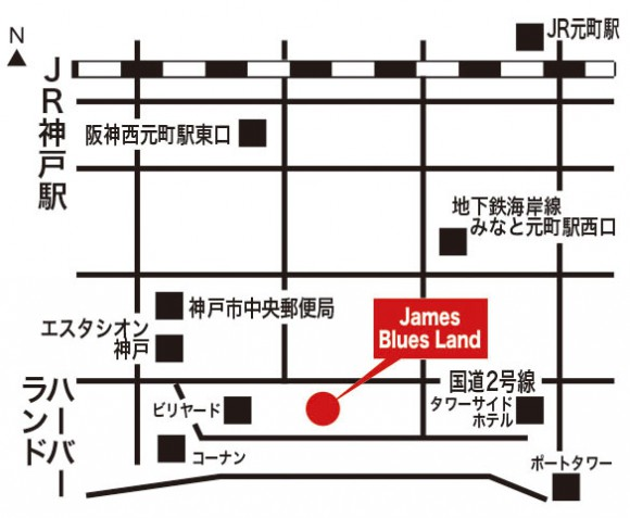 James Blues Land地図