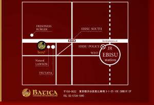 恵比寿BATICA地図